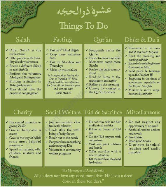 things to do in zul hijja