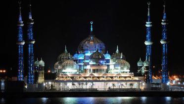 masjid in malaysia the crystal masjid teregganu